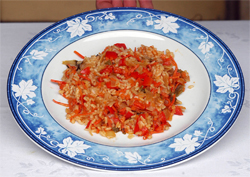 Arroz «perfecto» de verduras