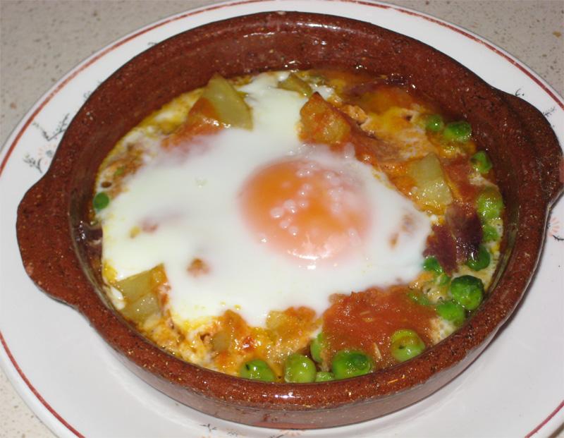Huevos a la flamenca y olé