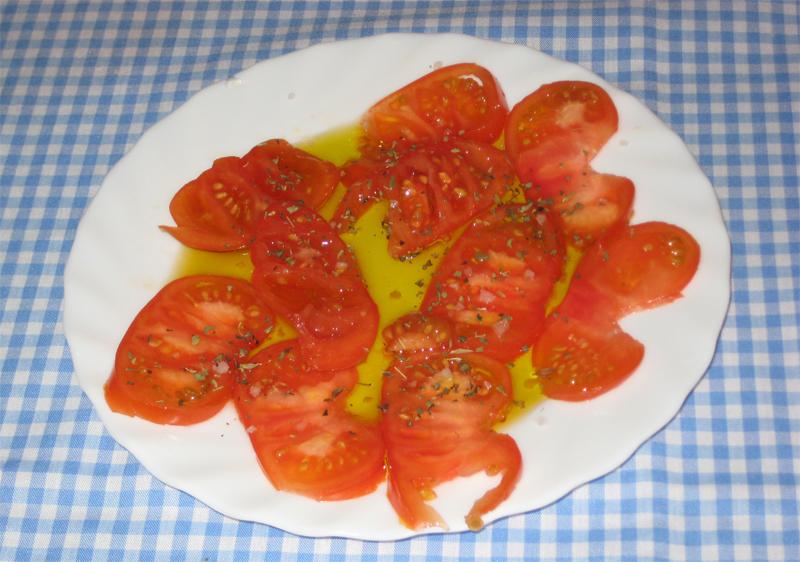 Tomates aliñados