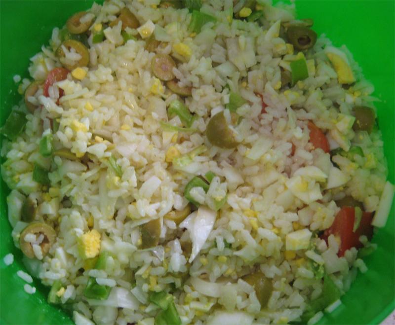 Ensalada de arroz veraniega