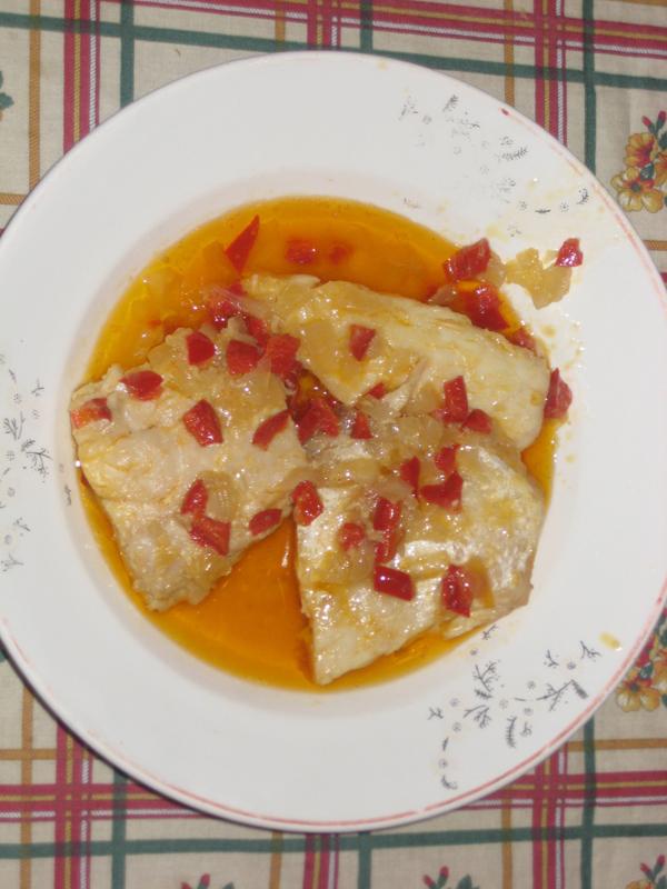 Percas en salsa española