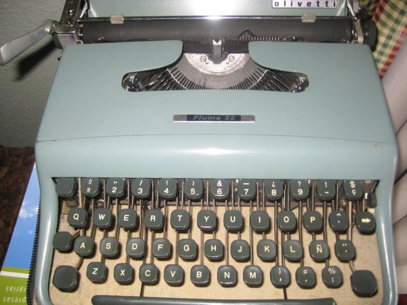 Mi primera máquina de escribir