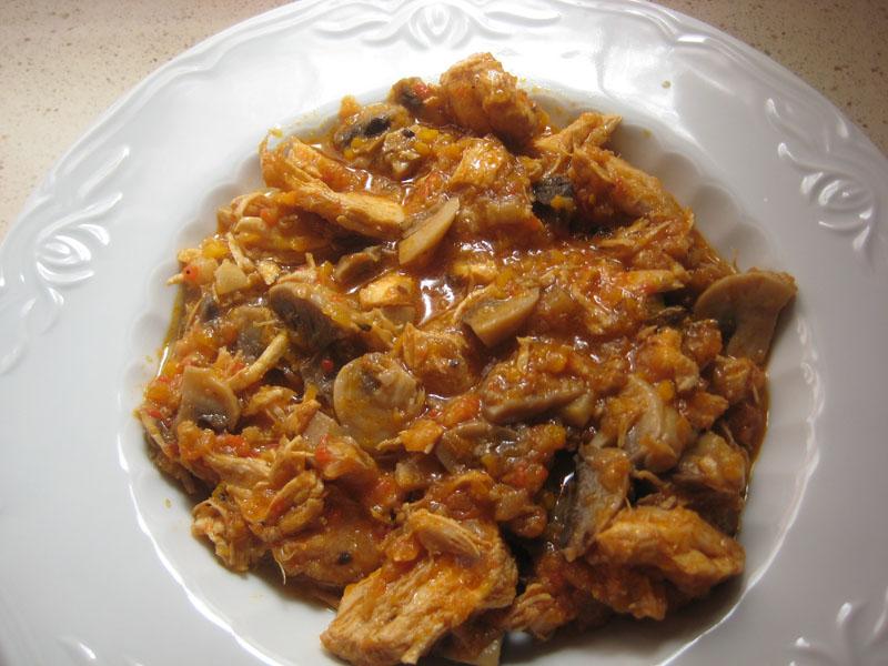 Pollo a la huertana (con y sin thermomix)