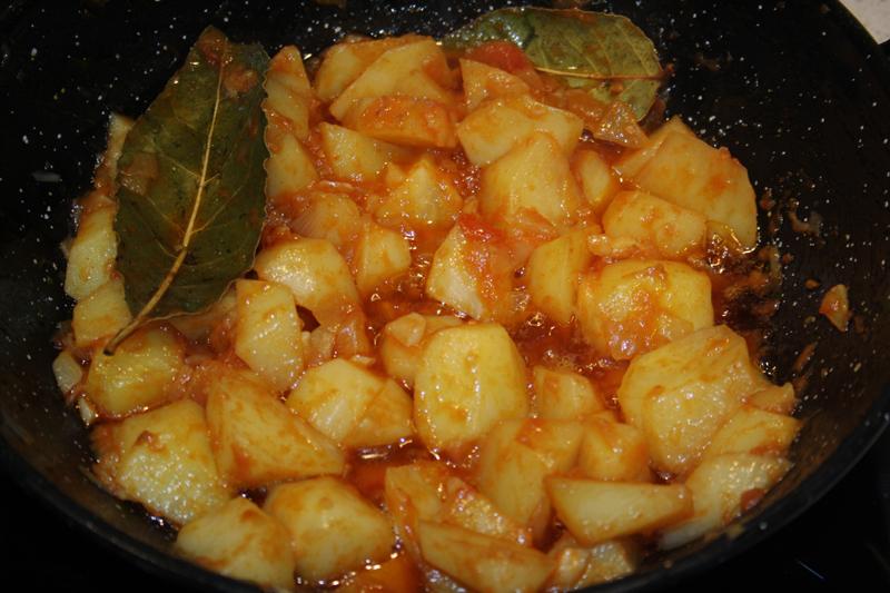 Patatas viudas de Huelva