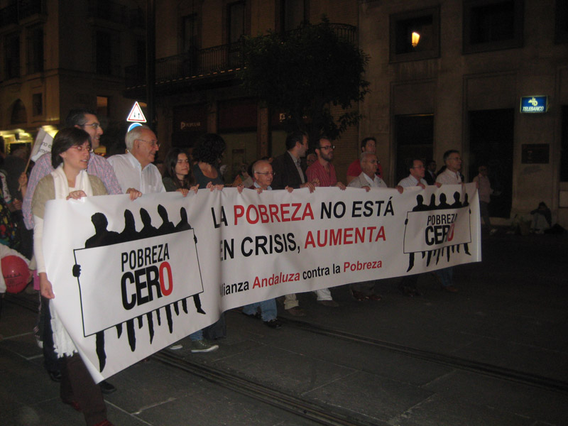 Manifestación contra la pobreza