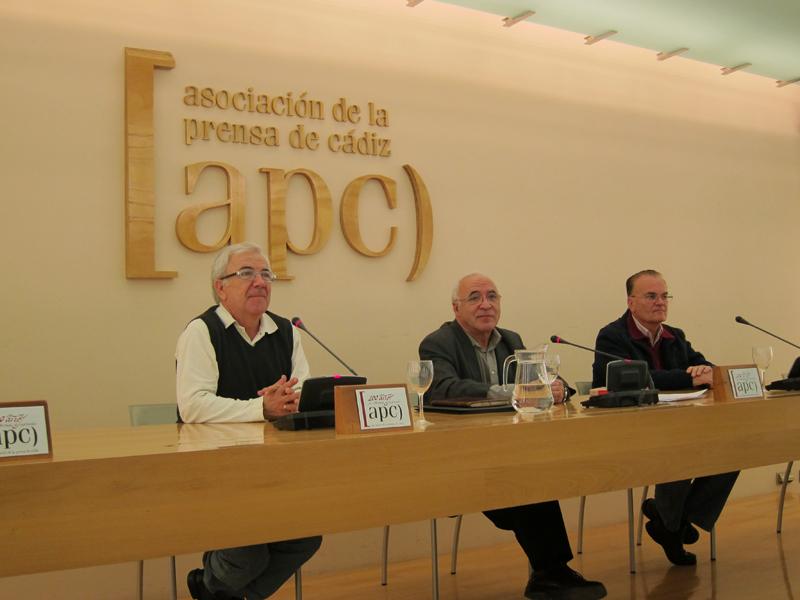 El teólogo Juan J. Tamayo en la Asociación de la Prensa de Cádiz