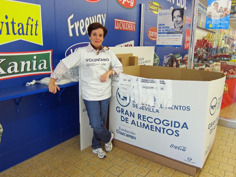 Recoger alimentos en Sevilla