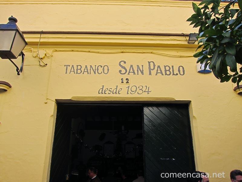 Tortillología: Tabanco San Pablo, Jerez
