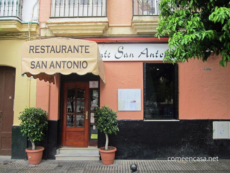Platos del Bicentenario en Restaurante San Antonio, Cádiz