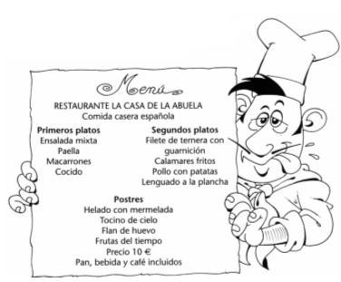 Carlos maribona habla del men en la uca come en casa Menu comida casera