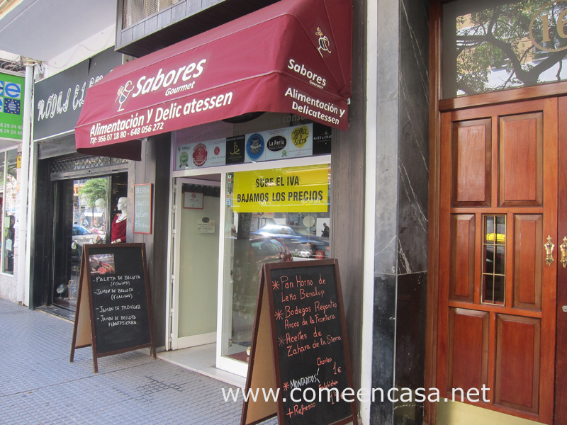Sabores, tienda gourmet en Cádiz Puertatierra
