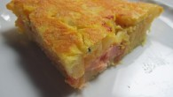 tortilla de patatas y salmón ahumado