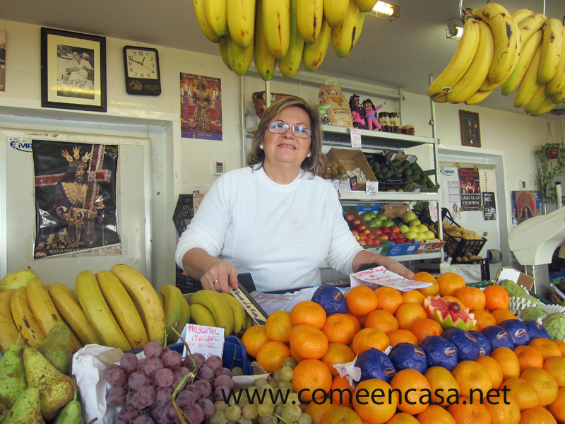 Frutería Gallán en el Mercado de Cádiz