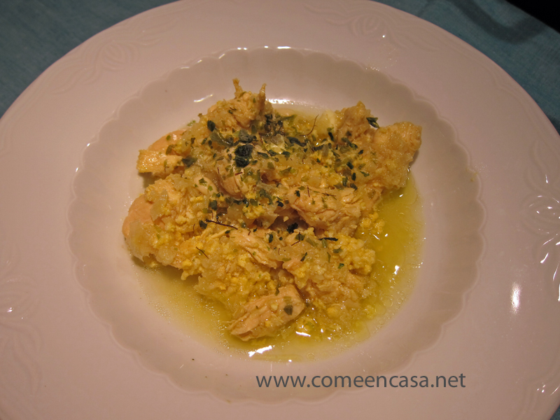 Pollo en pepitoria de thermomix