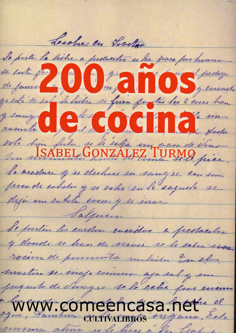 """Un libro con """"200 años de cocina"""""""