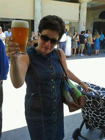 Una Maier en el mercado