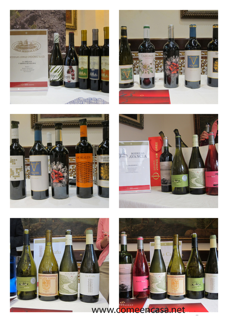 Presentación vinos del grupo Jorge Ordóñez