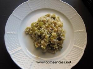 Arroz con verduras verdes