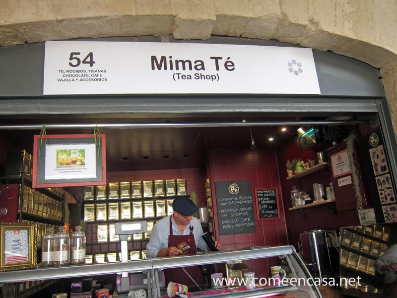 Mima Té en el mercado de abastos