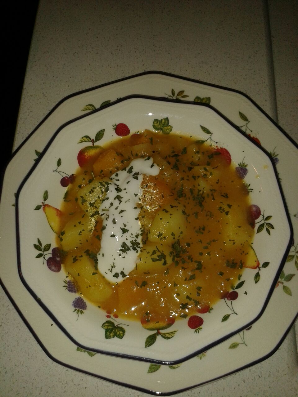 Curry de patatas y calabaza