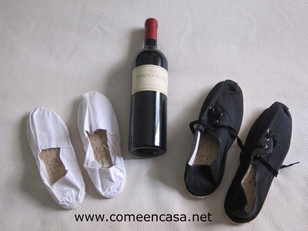 Desde Argentina, vino tinto y alpargatas