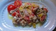 ensalada de quinoa y pimientos