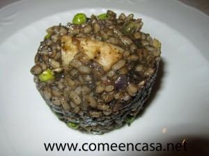 arroz negro con choco