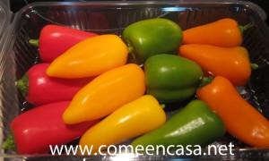 pimientos de colores