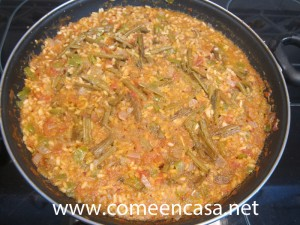 arroz con tagarnina y chorizo
