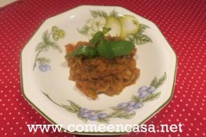 Berenjenas en salsa de tomate y especias