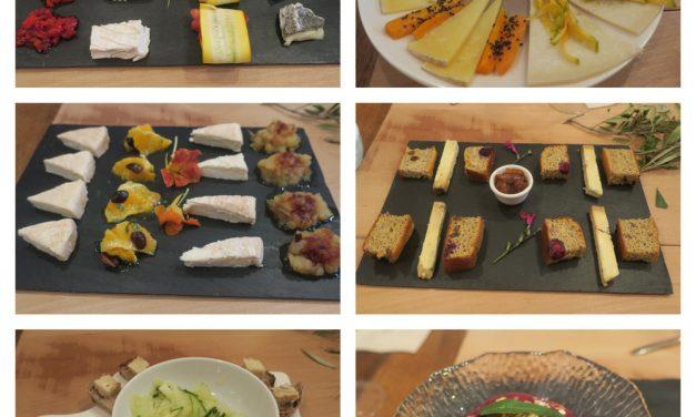 Cata de quesos y verduras en Casa Orzaez
