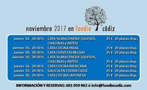Foodie Cádiz, programación noviembre @ local de Foodie Cádiz