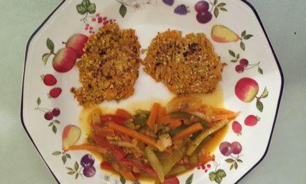 Hamburguesas de zanahoria y copos de avena