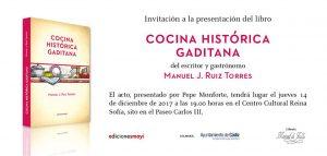 """Presentación libro """"Cocina histórica gaditana"""" @ Centro Reina Sofía"""