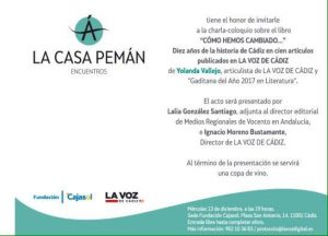"""Presentación libro """"Cómo hemos cambiado...."""" @ Casa Pemán - Fundación Cajasol"""