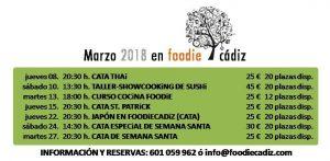 FOODIE CADIZ MARZO 2018 @ Local Foodie Cádiz - espacio gastronómico