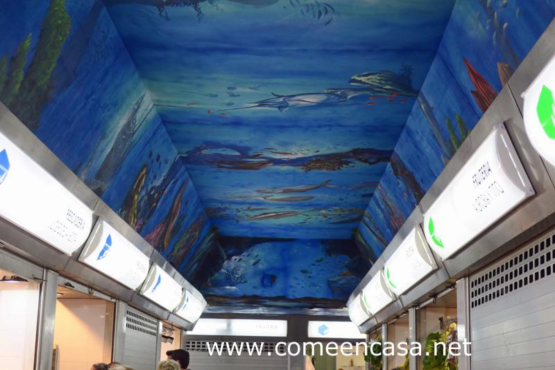 Un acuario en el Mercado del Rosario