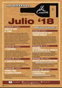 La Casapuerta Bar, actividades de julio @ LA CASAPUERTA BAR