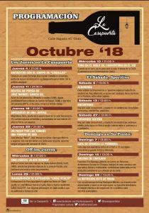La Casapuerta en Octubre, programa @ LA CASAPUERTA BAR