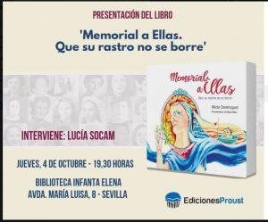 """Presentación del libro """"Memorias a ellas. Que su rastro no se borre"""" @ Biblioteca """"Infanta Elena"""""""