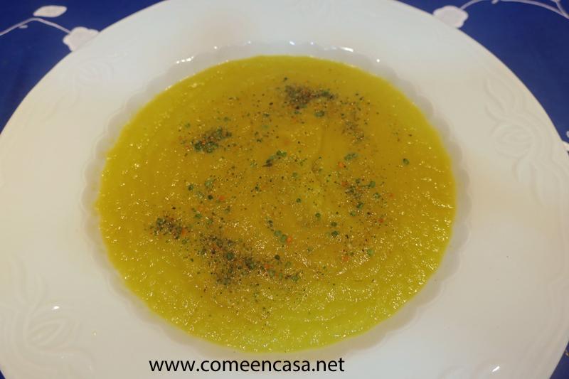 Crema de verduras sin estrés