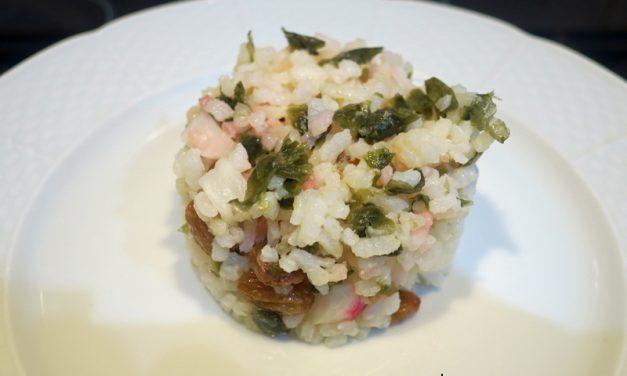 Ensalada de arroz con rabanitos