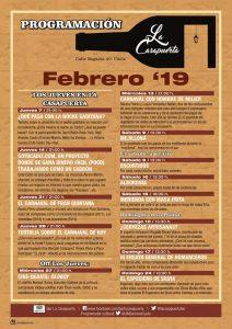 ACTIVIDADES LA CASAPUERTA FEBRERO 2019 @ LA CASAPUERTA BAR