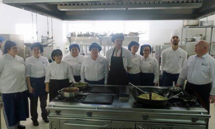 Almuerzo en la Escuela de Hostelería de El Puerto