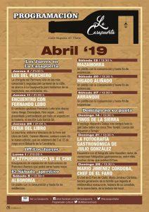 LA CASAPUERTA PROGRAMACIÓN ABRIL @ LA CASAPUERTA BAR