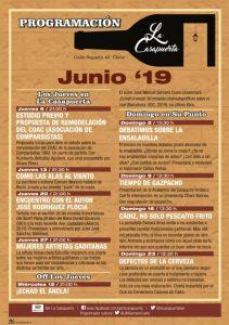 PROGRAMACIÓN LA CASAPUERTA JUNIO 2019 @ LA CASAPUERTA BAR