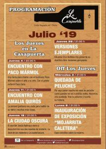 Programación Julio de La Casapuerta Bar @ LA CASAPUERTA BAR