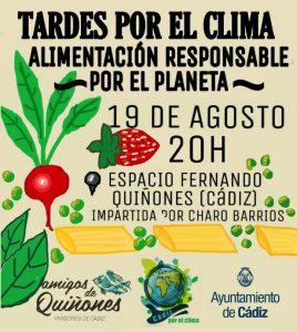 ALIMENTACIÓN RESPONSABLE POR EL PLANETA @ Asociación Amigos Quiñones