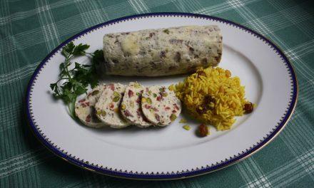 Fiambre de pollo con pistachos con Thermomix