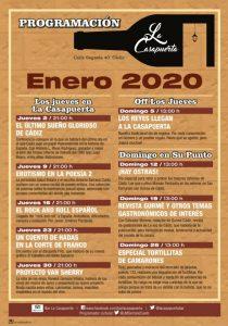La Casapuerta en Enero 2020, programación @ LA CASAPUERTA BAR
